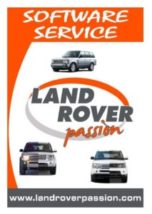 Land Rover Passion Software Service, volantino fronte