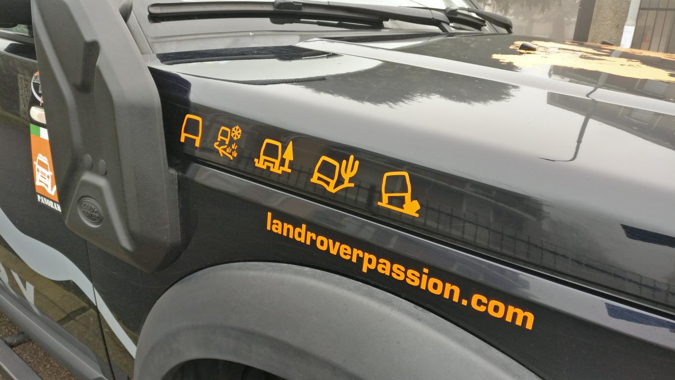 Terrain Response Stickers Land Rover Passion