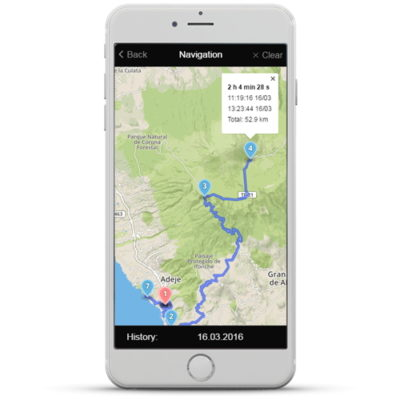 Altox App - Tracking history